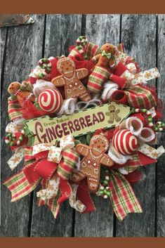 Gingerbread Wreath Inspiration Welcome to the September 2019 showcase of beautiful custom made wreaths and centerpieces! This month you will seen stunning fall, Halloween and Christmas Gingerbread Christmas Decor, Gingerbread Decorations, Cozy Christmas, Rustic Christmas, All Things Christmas, Christmas Time, Christmas Crafts, Christmas Decorations, Christmas Ornaments