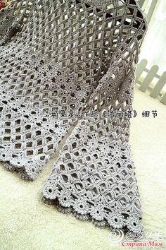 S L Fashions Womens Crochet Silver - Ufrock Black Crochet Dress, Crochet Jacket, Crochet Cardigan, Knitted Shawls, Knit Crochet, Crochet Designs, Crochet Patterns, Crochet Woman, Beautiful Crochet