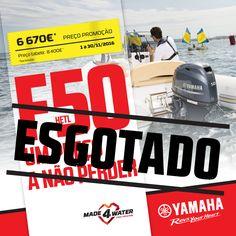 Esta oportunidade para adquirir um motor Yamaha F50 HETL acabou-se! A campanha foi um sucesso, mas esgotámos o stock disponível. Aguardem pela próxima campanha porque vale sempre a pena. Obrigado!   #yamahamarine #yamahamarineworld #mundoyamahamarine #foradebordayamaha #yamahaoutboard #yamahaf50