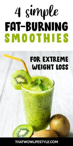 Weight Loss Meals, Weight Loss Drinks, Weight Loss Smoothies, Easy Weight Loss, Healthy Weight Loss, How To Lose Weight Fast, Fat Burning Smoothies, Good Smoothies, Green Smoothies