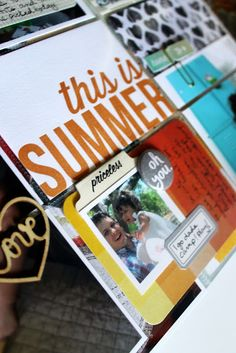 Project Life: Honeysuckle Summer #projectlife #kellypurkey #letterpress