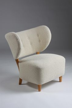 Two seat sofa and easy chair, Designed by Otto Schulz for Boet, Sweden. 1940's.