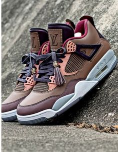 LV Jordan IV. Would you cop? Louis Vuitton Shoes Sneakers, Louis Vuitton Trainers, Lv Sneakers, Louis Vuitton Men Shoes, Lv Shoes, Jordan Sneakers, Bling Shoes, Roshe Shoes, Cheap Shoes, Fashion Accessories, Dressy Flat Shoes, Best Sneakers, Women's Tennis Wear, Men Accessories, Nike Tennis, Loafers & Slip Ons, Male Shoes