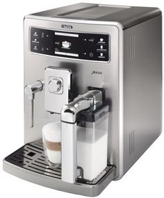 Saeco Xelsis SS Automatic Espresso Machine, Stainless Steel from Saeco - The Well-Equipped Kitchen Espresso Machine Reviews, Automatic Espresso Machine, Espresso Coffee Machine, Espresso Bar, Espresso Drinks, Cappuccino Maker, Cappuccino Machine, Italian Espresso, Italian Coffee