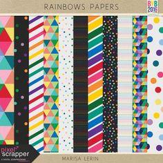 Rainbow Papers Kit #1 | digital scrapbook | bright, fun, pride, project life, pocket scrapping, printable, hybrid