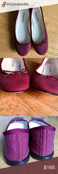 Repetto Cendrillon Burgundy Flats, Sz FR 39/ US 8 NWOT. Tout simplement magnifique. Leather upper. Low-cut ballerina Lining in ecru coloured canvas. Insole in white sheepskin. Leather heel, height 10 mm. Butt leather sole. Made in France. Coming from our 'dance' know how, the 'stitch and return' is a unique process of fabrication developed by Rose Repetto. In 1947, she created her first ballet shoes according to this technique, used today to make our shoes. The sole is stitched inside out…