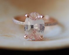 Blake Lively ring White Sapphire Engagement Ring by EidelPrecious