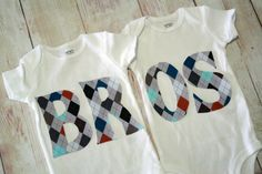 Twin Matching BROS Onesies for Twin Boys  by RightUpYourAli1, $50.00