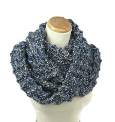 Infinity Scarf Knit Scarf Circle Scarf Hand by ArlenesBoutique