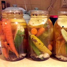Use this simple recipe to quickly preserve your spring and summer vegetables—no canning required.data-pin-do=