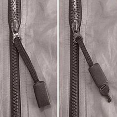 (Zipper-Pull) Non-Metallic Covert Hide Out Handcuff Key w/ Hidden Lanyard