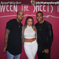By @brittaneysturgill  This is what heaven looks like  @chrisbrownofficial @treysongz #chrisbrown #treysongz #betweenthesheetstour #btstourvip