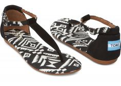 Just bought me some of these bad boys... LOVE t-strap sandles. Black Woven Women's Playa Sandals   TOMS.com