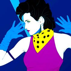 Patrick Nagel...his prints inspired many of my artworks in high school