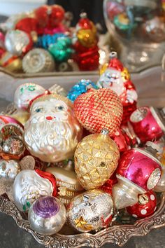 Vintage Christmas Ornaments--I have quite a number of these that I bought imported from Germany