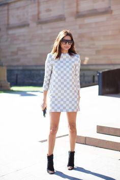 Christine Centenera in Louis Vuitton   Sydney girls street style   Xssat Street Fashion
