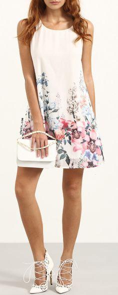 Floral Print Tank Dress