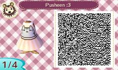Pusheen dress ^-^ animal crossing qr code acnl