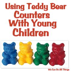Great ideas for early learning with Learning Resources Teddy Bear Counters.  I've got to get some of these ASAP!