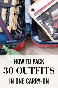 How i fit 30 outfits in my carry-on road trips packing tips for travel, tra Travel Info, Packing Tips For Travel, Travel Essentials, Travel Bugs, Time Travel, Places To Travel, Travel Destinations, Traveling Tips, Travel Hacks