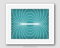 Science as Art Print Magnetic Field Available by GetYourNerdOn