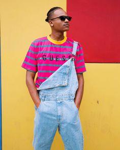 GUESS X J BALVIN OVERSIZED STRIPED LOGO TEE PC: @jeremiahbrwn Club Fashion, Men's Fashion, Camp Flog Gnaw, Guess Clothing, Club Style, Air Max 1, Style Men, Sexy Dresses, Mushroom