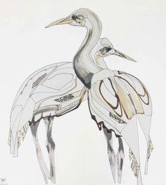 CRANE NO.2 Wildlife Art, Crane, Fine Art, Creative, Visual Arts