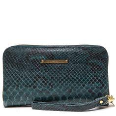 Fabienne Chapot, Purse plain green snake leather
