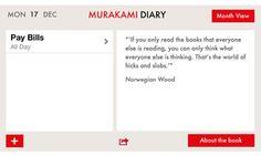 Haruki Murakami? There's an iPhone and iPad diary app for him...