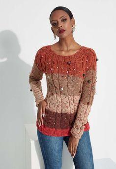 Blusa de Tricô - Fio Magicpull - Blog do Bazar Horizonte - Maior Armarinho Virtual do Brasil Warm Outfits, Crochet Squares, Sewing Basics, Knit Cardigan, Ideias Fashion, My Favorite Things, Knitting, Womens Fashion, Sweaters
