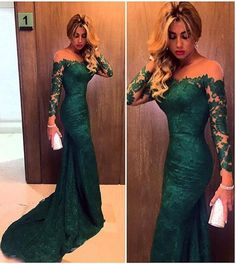 2016 New Lace Evening Dresses Long Sleeve Prom Dresses Formal Party Gowns ++++ Mermaid Prom Dresses Lace, Prom Dresses Long With Sleeves, Prom Dresses For Sale, Prom Dresses Online, Sexy Dresses, Lace Mermaid, Dresses 2016, Dress Online, Wedding Dresses