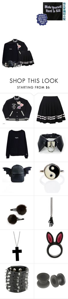 """""""clearing drafts"""" by meep1213 ❤ liked on Polyvore featuring Current Mood, Moon River Collective, Topshop, Atelier 11, Alex and Chloe and Sharpie"""
