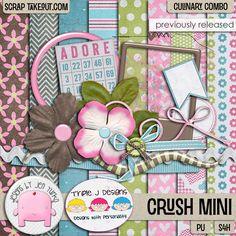 Crush {Mini Kit} by Jen Yurko! #digitalscrapbooking #digiscrap #jenyurko #triplejdesigns