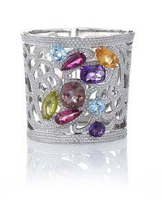 Greco-Roman Multicolor Cuff Bracelet - Gayubo