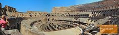 Built of concrete and stone. The largest amphitheater ever built and considered one of the greatest works of architecture and engineering