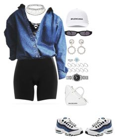 """Untitled #775"" by klayvic ❤ liked on Polyvore featuring NIKE, Charlotte Russe, Longines, Balenciaga, ASOS, De Beers and Tiffany & Co."