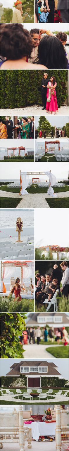Ceremony Photographs captured by Roberto Farren Photography #newportweddings #juneweddings #mandaps #ceremonysite