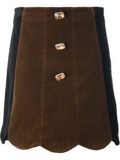 VIVETTA buttoned scalloped a-line skirt. #vivetta #cloth #skirt