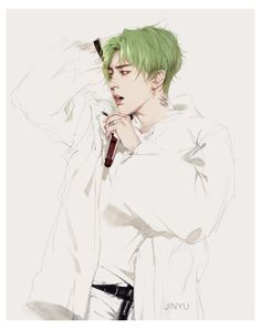 GD fanart by 画画的金宇 // very niiice, it did look like a cross between GD × YB