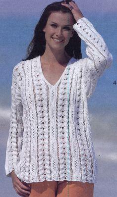 Классика: белый пуловер спицами (3 размера). Обсуждение на LiveInternet - Российский Сервис Онлайн-Дневников