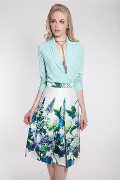 Verano azul Closé Falda Nicole #moda #verano #azul