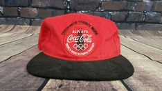 aa44465c48eb7 Vintage Coca-Cola Coke Snapback Cap Hat 80s Olympic partner PATCH  CocaCola   Cap  Everyday