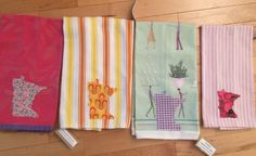 Minnesota Dish Towel ~ Cotton ~ MN Applique ~ UPcycled ~ Great Hostess Gift ~ Housewarming ~ Choose 1 or all 4!!