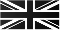 union jack - use white electrical tape on black linens
