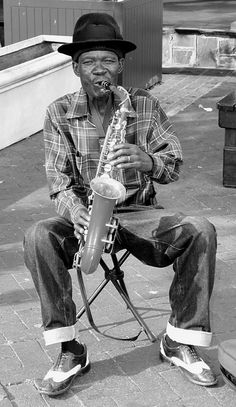 Saxohone player in Cape Town, South Africa