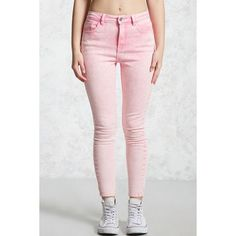 Forever21 Acid Wash Skinny Jeans (370 MXN) ❤ liked on Polyvore featuring jeans, skinny jeans, forever 21 skinny jeans, high-waisted acid wash jeans, high-waisted skinny jeans and high rise jeans