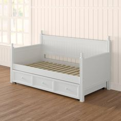 Best Yorkville Trundle Daybed Frame Only White Dual Comfort 400 x 300