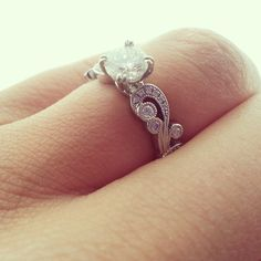 Obsessed with my engagement ring!