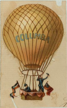 Vintage Hot Air Balloon   Here are some great images and ephemera for your altered art, collage ...