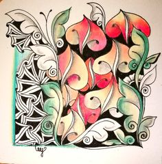 Miimis zentangle with icantoo toodles and more...